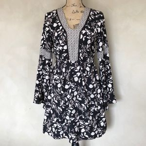 Maurices boho bell sleeve floral dress